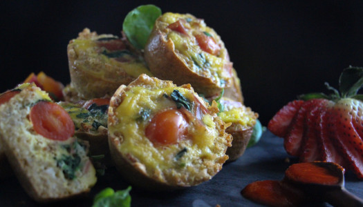 Mini Quinoa Crusted Quiche's
