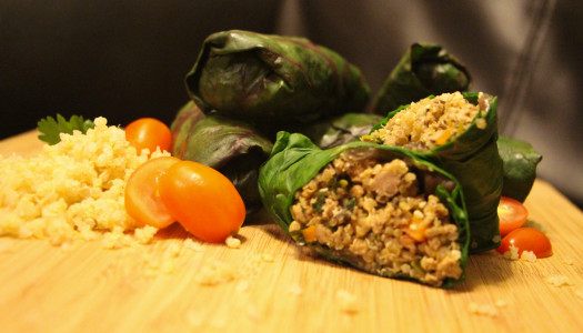 Swiss Chard Rolls with Turkey and Quinoa