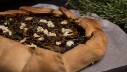 Mushroom, Goat Cheese and Thyme Galette