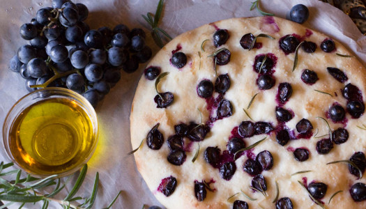 Concord Grape & Rosemary Focaccia
