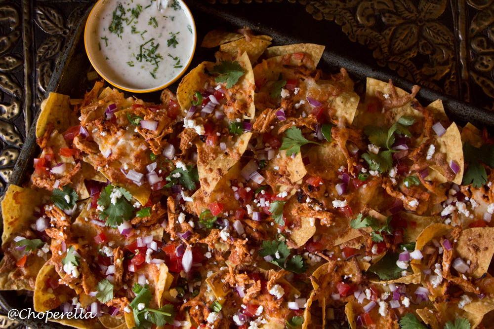 Butter chicken Nachos