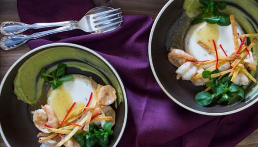 Savoury Panna Cotta with Lime and Cumin Shrimp