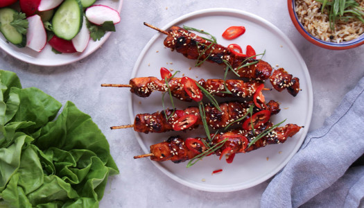 Glazed Korean Chicken Skewers