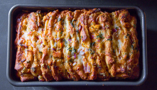 Butter Chicken Pull-Apart Bread