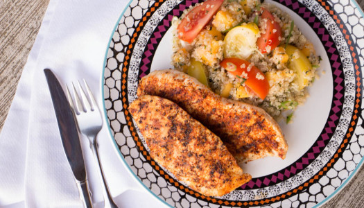 Ricardo's Grilled Chicken with Tomato, Mango and Quinoa Salad