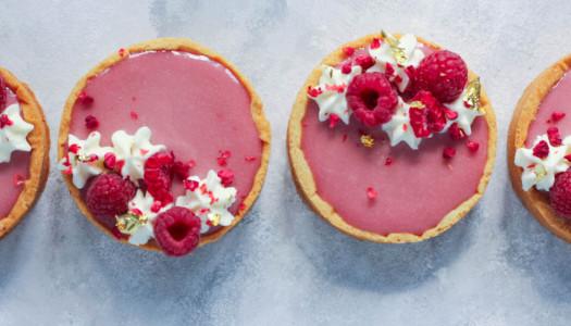 Pink Peppercorn, Raspberry and Rose Tarts